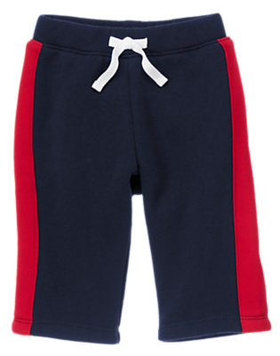 Baby Navy Baseballs All-Star Fleece Lined Pants by Gymboree
