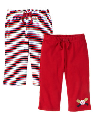 Baby Red Baseball Stripe Pant Two-Pack by Gymboree