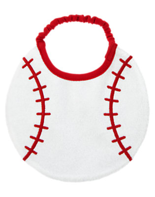 Baby Navy Baseballs All-Star Bib by Gymboree