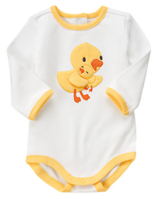 White Duck Bodysuit by Gymboree