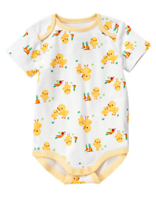 Baby Duck Duck Print Bodysuit by Gymboree