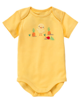 Yellow Duck Veggie Bodysuit by Gymboree