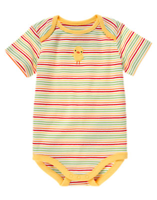 Baby Yellow Duck Stripe Bodysuit by Gymboree