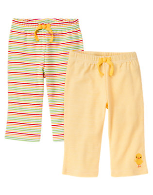 Baby Yellow Duck Stripe Pant Two-Pack by Gymboree