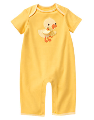 Yellow Baby Duck One-Piece by Gymboree