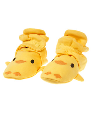 Baby Yellow Duck Crib Bootie by Gymboree