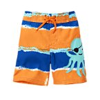 Octopus Pirate Stripe Swim Trunk