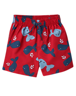 Real Red Whale Swim Trunk by Gymboree