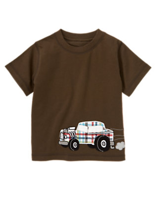 Toddler Boys Chocolate Brown Car Tee by Gymboree
