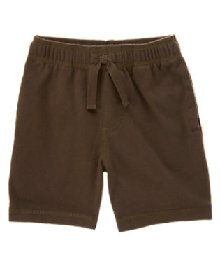Toddler Boys Chocolate Brown Knit Active Short by Gymboree