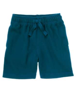 Toddler Boys Dark Teal Knit Active Short by Gymboree