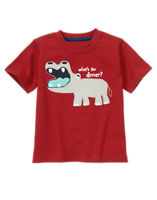 Toddler Boys Real Red Baby Hippo Tee by Gymboree