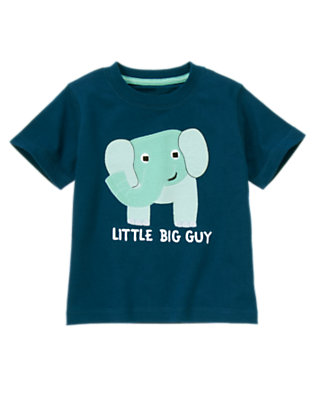 Toddler Boys Surf Blue Baby Elephant Tee by Gymboree