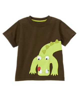 Toddler Boys Chocolate Brown Baby Alligator Tee by Gymboree