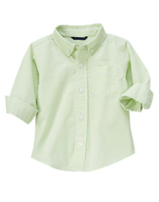 Toddler Boys Mint Green Mini Check Checked Shirt by Gymboree