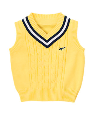 Toddler Boys Snapdragon Yellow Sea Plane Tipped Sweater Vest by Gymboree