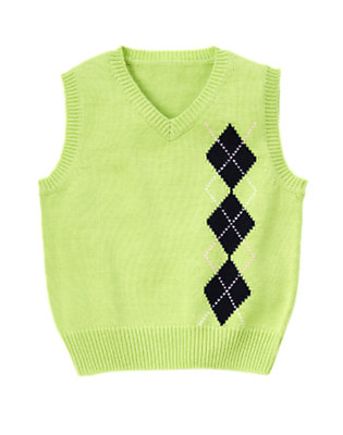 Toddler Boys Mint Green Argyle Sweater Vest by Gymboree