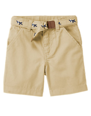 Khaki Sea Plane Belted Short by Gymboree