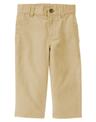 Khaki Linen Blend Dress Pant by Gymboree