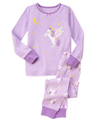 Girls Celestial Purple Pegasus Two-Piece Gymmies® by Gymboree