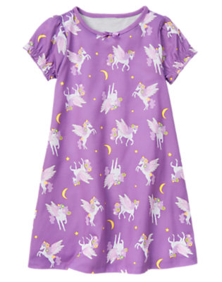 Girls Pegasus Purple Pegasus Pajama Gown by Gymboree
