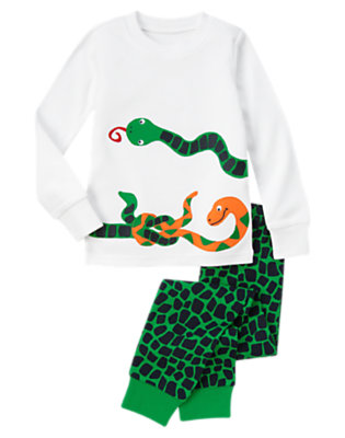Snake Green Snakes Two-Piece Gymmies® by Gymboree