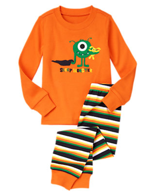 Monster Orange Sleep Monster Two-Piece Gymmies® by Gymboree