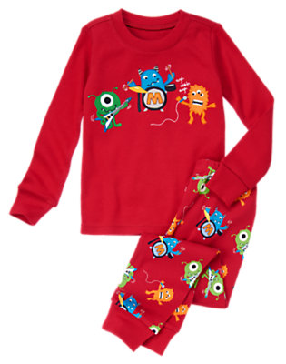 Boys Rockin' Red Monster Band Two-Piece Gymmies® by Gymboree