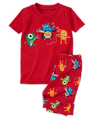 Rockin' Red Monster Band Shortie Two-Piece Gymmies® by Gymboree