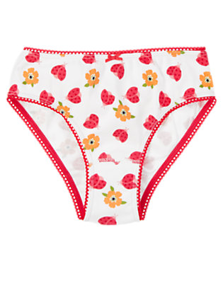Girls White Ladybug Ladybug Poppy Panty by Gymboree