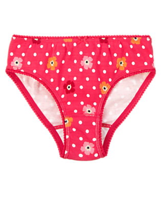 Toddler Girls Poppy Pink Dot Dot Poppy Panty by Gymboree