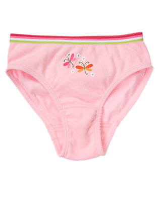 Girls Petal Pink Dragonfly Panty by Gymboree