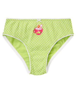 Girls Green Tea Dot Mouse Teacup Dot Panty by Gymboree