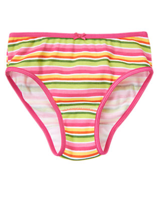 Toddler Girls Green Tea Stripe Stripe Panty by Gymboree