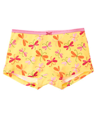 Girls Buttercup Yellow Dragonfly Hipster Panty by Gymboree