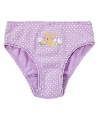 Toddler Girls Purple Posy Bunny Dot Panty by Gymboree