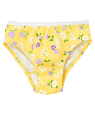 Girls Daffodil Yellow Floral Flower Panty by Gymboree