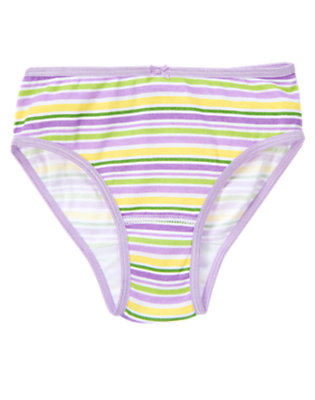 Girls Purple Posy Stripe Stripe Panty by Gymboree