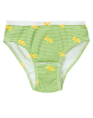 Girls Spring Green Daffodil Stripe Panty by Gymboree