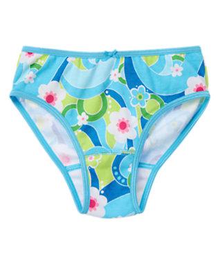 Toddler Girls Sky Blue Flower Swirl Flower Swirl Panty by Gymboree