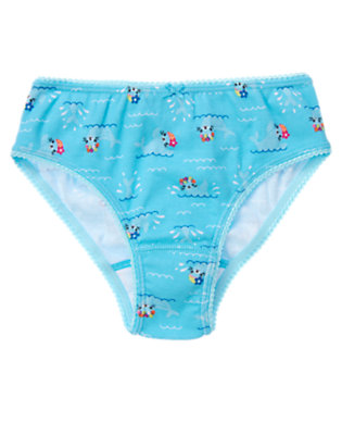 Toddler Girls Seal Blue Swimming Seal Panty by Gymboree