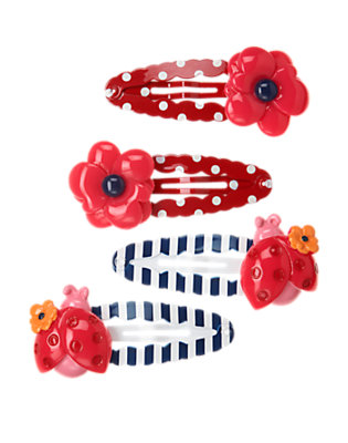 Poppy Pink Ladybug Poppy Snap Clip Four-Pack by Gymboree