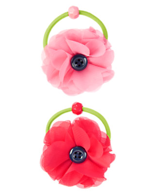 Girls Poppy Pink Chiffon Poppy Pony Holder Two-Pack by Gymboree