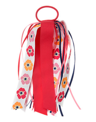 Girls Poppy Pink Poppy Streamer Pony Holder by Gymboree