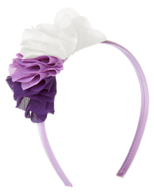 Girls Violet Purple Flower Corsage Headband by Gymboree