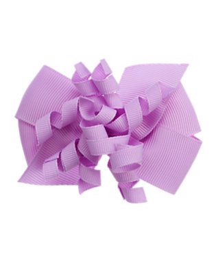 Violet Purple Curly Bow Hair Clip by Gymboree