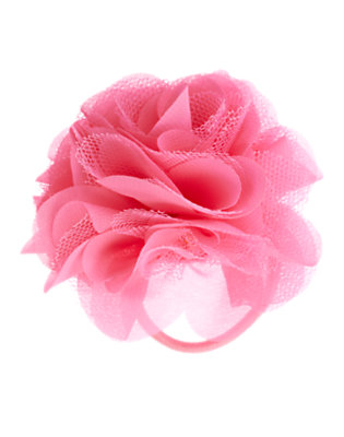 Girls Soft Pink Rosette Pony Holder by Gymboree
