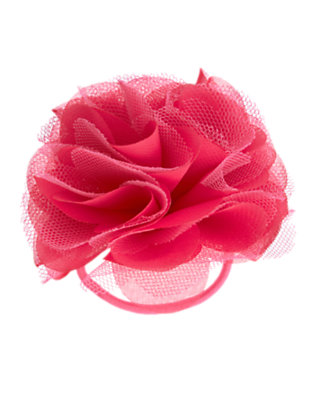 Girls Magenta Pink Rosette Pony Holder by Gymboree