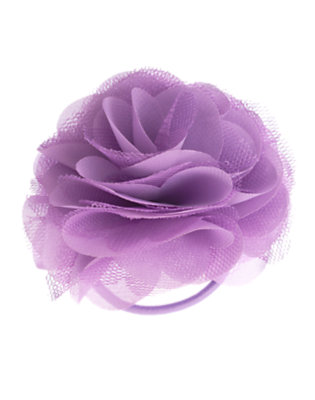 Girls Violet Purple Rosette Pony Holder by Gymboree