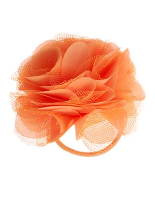 Girls Soft Orange Rosette Pony Holder by Gymboree